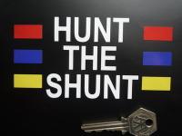 Hunt The Shunt James Hunt Helmet Sticker. 5