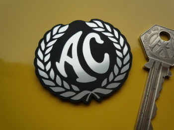 AC Cars Garland Style Laser Cut Self Adhesive Car Badge. 2""