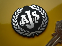 "AJS Garland Style Laser Cut Self Adhesive Bike Badge. 1"" or 2"""