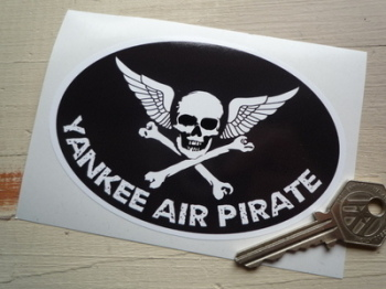 "Yankee Air Pirate US Aviation Sticker. 4.75""."