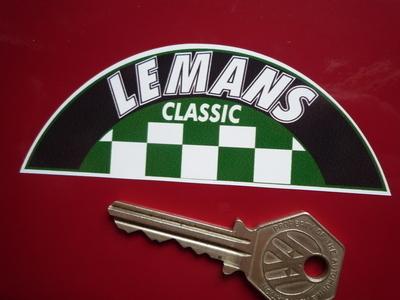 LeMans Classic Chequered Semi Circle Le Mans Sticker. 4
