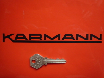 "Karmann Cut Text Stickers. 7"" or 12"" Pair."