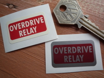 "Overdrive Relay Sticker. 1.5"" ."
