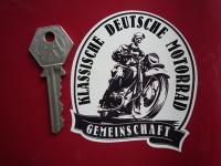 "German Classic Motorcycle Community Deutsche Sticker. 3""."