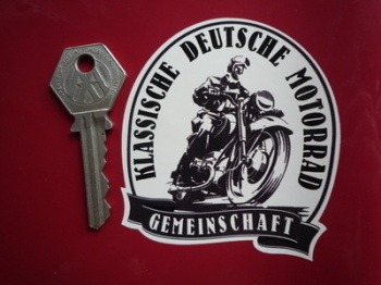 "German Classic Motorcycle Community Deutsche Sticker. 3""."