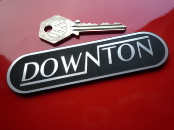 "Downton Laser Cut Self Adhesive Car Badge. 4""."