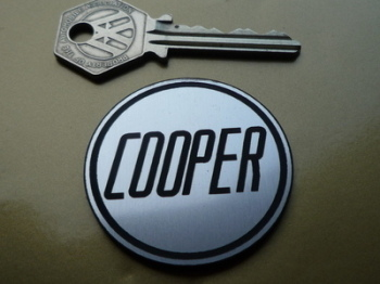 "Cooper Circular Laser Cut Self Adhesive Car Badge. 1.75""."