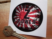Z Power Kawasaki & Datsun Fade To Black Hinomaru Style Sticker. 3