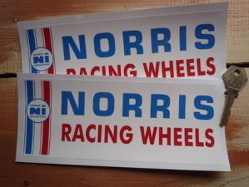 """Norris Racing Wheels Oblong Stickers. 8"""" Pair."""