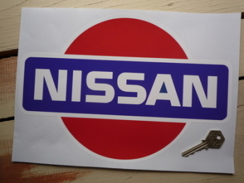 "Nissan Coloured Logo Sticker. 12""."