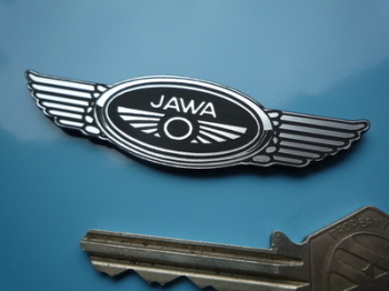 "Jawa Winged Logo Style Laser Cut Self Adhesive Bike Badge. 3""."
