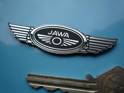 "Jawa Winged Logo Style Laser Cut Self Adhesive Bike Badge. 3""."