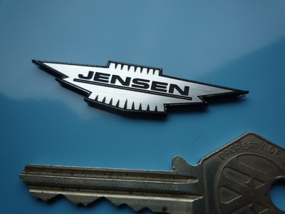 "Jensen Logo Style Laser Cut Self Adhesive Car Badge. 2"" or 4.5""."