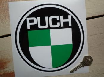 """Puch Logo Round Sticker. 6.5""""."""