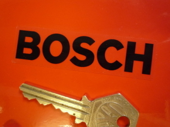 "Bosch Black on Clear Oblong Stickers. 3"", 4"", 6"" or 9"" Pair."