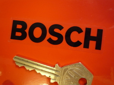 Bosch Black on Clear Oblong Stickers. 3