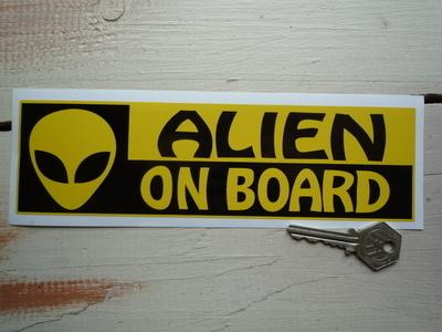 """Alien On Board Bumper Sticker. 8.5""""."""