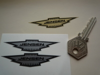 Jensen Shaped Badge Style Stickers. 2.5
