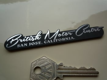 "British Motor Centre San Jose California Self Adhesive Car Badge. 4""."