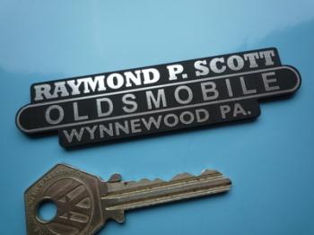 "Oldsmobile Dealer Scott Wynnewood PA Self Adhesive Car Badge. 3.75""."