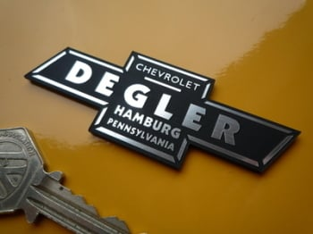 "Chevrolet Degler Pennsylvania Dealer Self Adhesive Car Badge. 3""."