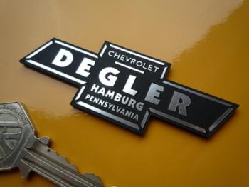 "Chevrolet Degler Pennsylvania Dealer Self Adhesive Car Badge. 3""."