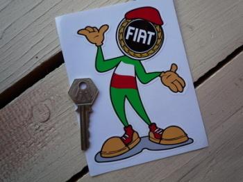 """Fiat Happy Chappy Sticker. 11""""."""