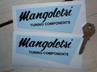 "Mangoletsi Tuning Components Shaped Stickers. 5"" Pair."