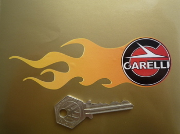 "Garelli Flame Stickers. 5.5"" Pair."