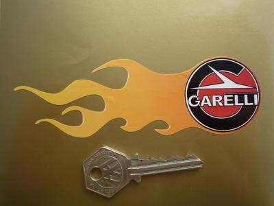 "Garelli Flame Stickers. 5.5"" Pair."