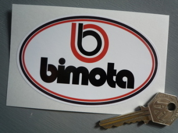 "Bimota Motorcycles Oval Sticker. 4.5""."