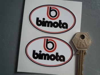 "Bimota Motorcycles Oval Stickers. 2.5"" Pair."