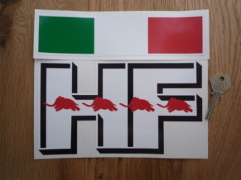 "Lancia Delta Integrale HF 3D Style & Troicola Sticker Set. 8.5""."