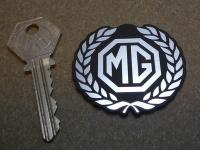 """MG Garland Shaped Style Laser Cut Self Adhesive Car Badge. 2""""."""