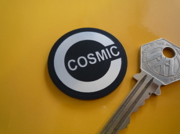 "Cosmic Circular Laser Cut Self Adhesive Car Badge. 1.5""."