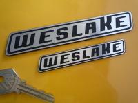 """Weslake Laser Cut Self Adhesive Car or Bike Badge. 4"""" or 6""""."""