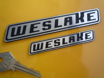 "Weslake Laser Cut Self Adhesive Car or Bike Badge. 4"" or 6""."