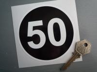 50 MPH Towing Speed Limit Caravan/Trailer Sticker. 3.75