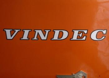 "Vindec Bicycle Black & White Cut Text Stickers. 8.5"" Pair."