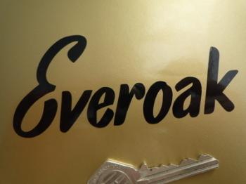 """Everoak Helmets Cut Text Sticker. 4.5""""."""