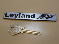 "British Leyland ST Oblong Laser Cut Self Adhesive Car Badge. 4.25""."