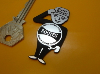 "Rootes Group Saluting Service Man Self Adhesive Car Badge. 2.5""."
