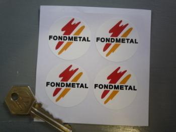 Fondmetal Wheels Stickers. Set of 4. 37mm.