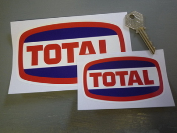 "Total 1970's Style Ovoid Stickers. 4"" or 6"" Pair."