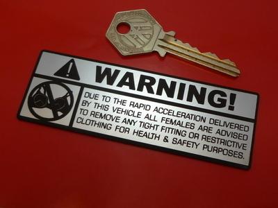 """Bra Warning Spoof Laser Cut Self Adhesive Car, Bike or Quard Badge. 4"""""""