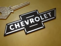 """Chevrolet Dicky Bow Laser Cut Self Adhesive Car Badge. 4""""."""