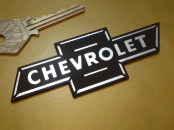 "Chevrolet Dicky Bow Laser Cut Self Adhesive Car Badge. 4""."
