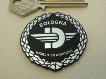 Ducati Bologna World Champions Garland Self Adhesive Bike Badge. 1.75""
