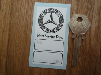 "Mercedes Next Service Due Service Sticker. 3""."