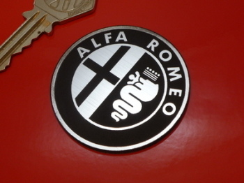 "Alfa Romeo Logo Style Laser Cut Self Adhesive Car Badge. 1"" or 2"""